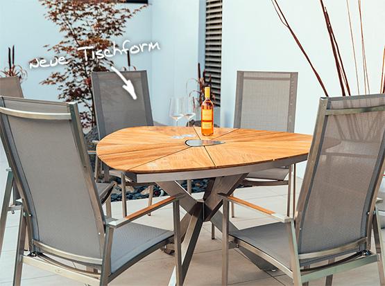 Triangel-Tisch Lyon, Stuhl Monaco