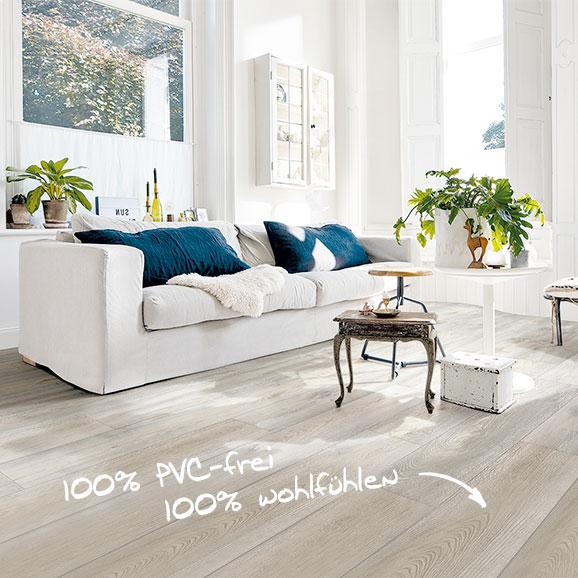 Vinylboden ohne Vinyl, Designboden MeisterDesign.life, Holznachbildung, Wildeiche grau