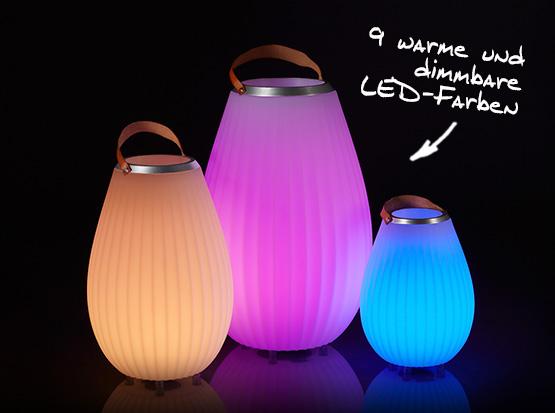 Leuchte Joouly mit 9 warmen und dimmbaren LED-Farben