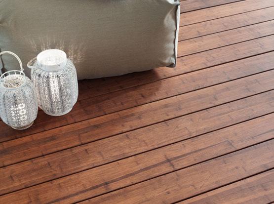 Bambus-Terrasse, glatt