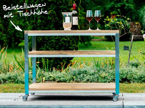 Der Beistelltisch Piazza ist die perfekte Ergänzung für Gartentische