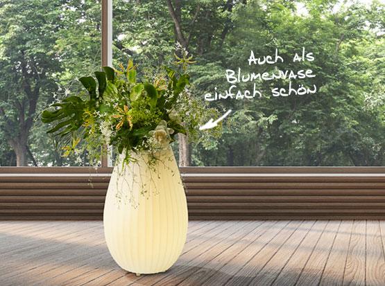 Joouly Leuchte mit Vase und Lautsprecher