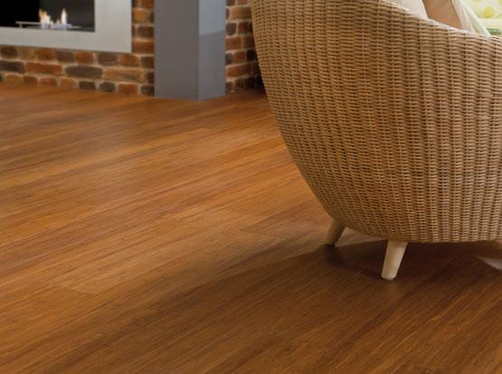 Bambusboden, solida, gedämpft