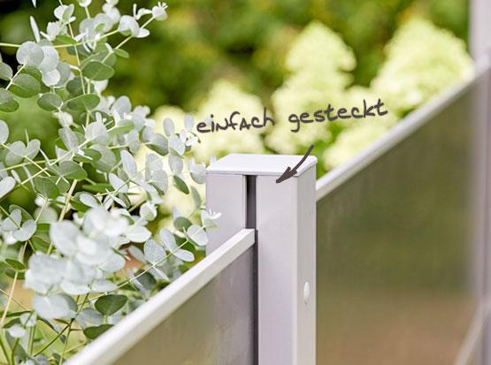 Sichtschutz-Steckzaunsystem