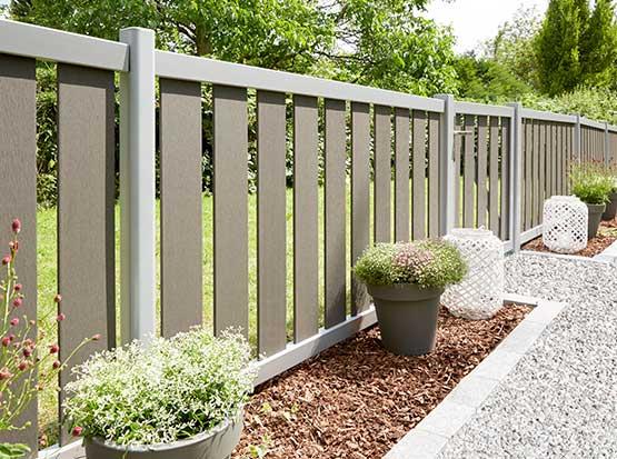 Gartenzaun Raja, WPC und Aluminium