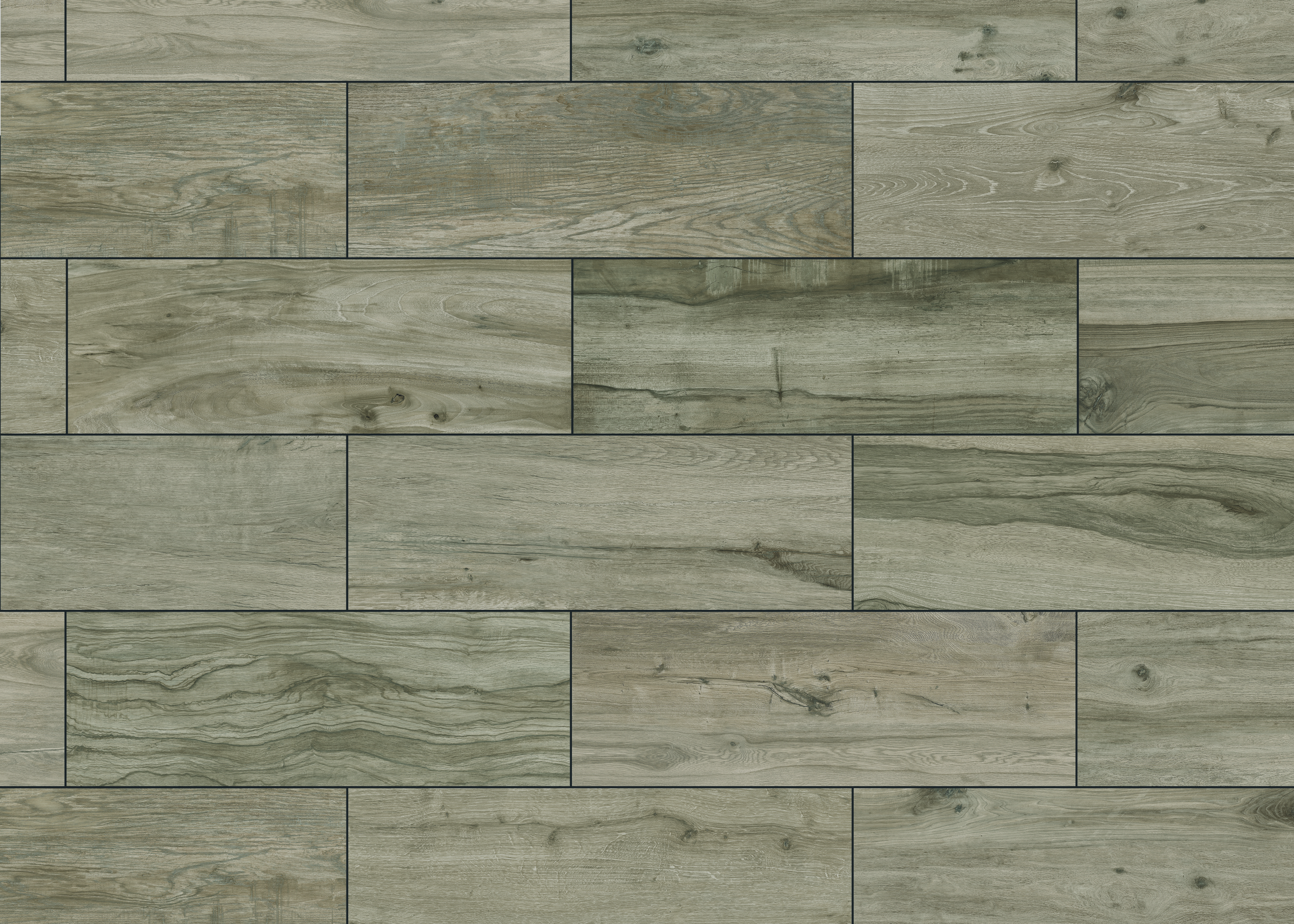 keramische Terrassenplatte Eiche grau
