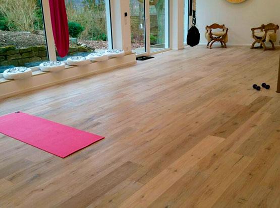 Referenz Yogastudio: Fertigparkett Landhausdiele Eiche
