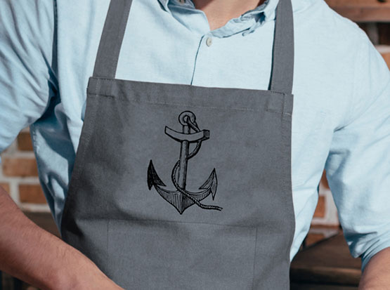 Küchenschürze mit Motiv Anker