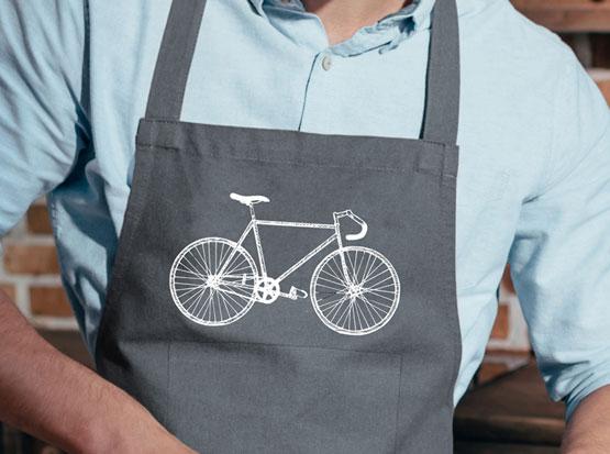 Grillschürze mit Motiv Fahrrad