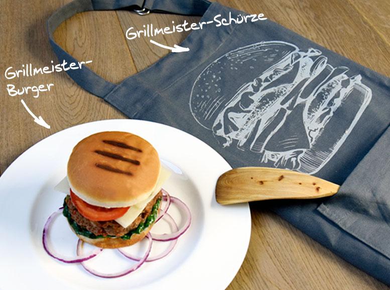 Grill-Rezept Chorizo Burger mit passender Grillschürze