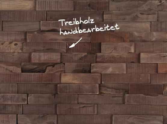 Treibholz-Wandpaneel Kurhaus