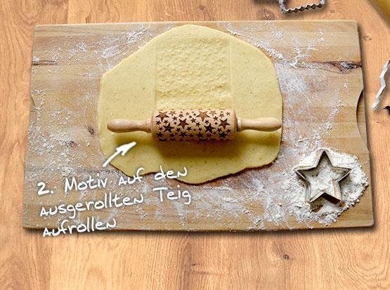 Kekse Backen mit dem Keksroller