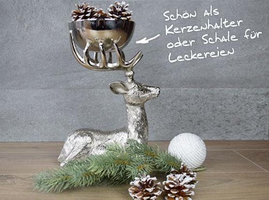 Dekoration Hirschschale, Hirschleuchter