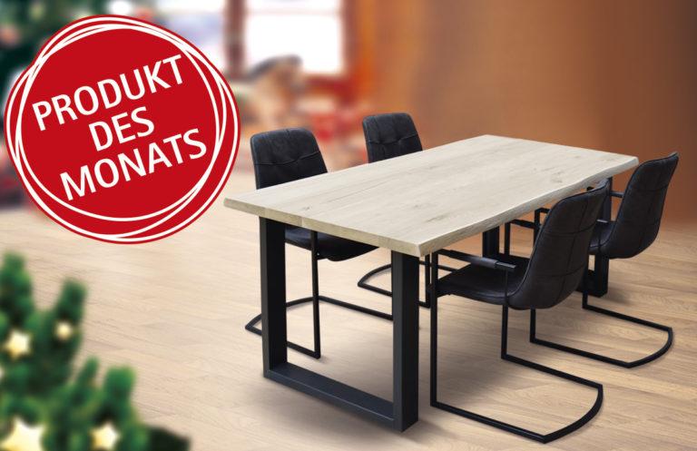 Angebot: Baumstarke Esstischgruppe mit vier Stühlen