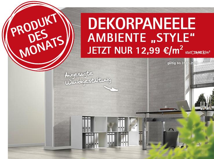 Angebot: Dekorpaneele Ambiente Style