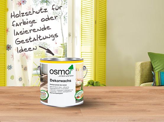 OSMO Dekorwachs für farbigen Holzschutz