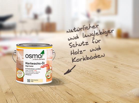 OSMO Hartwachs-Öl, langlebiger Schutz für Holz- und Korkböden