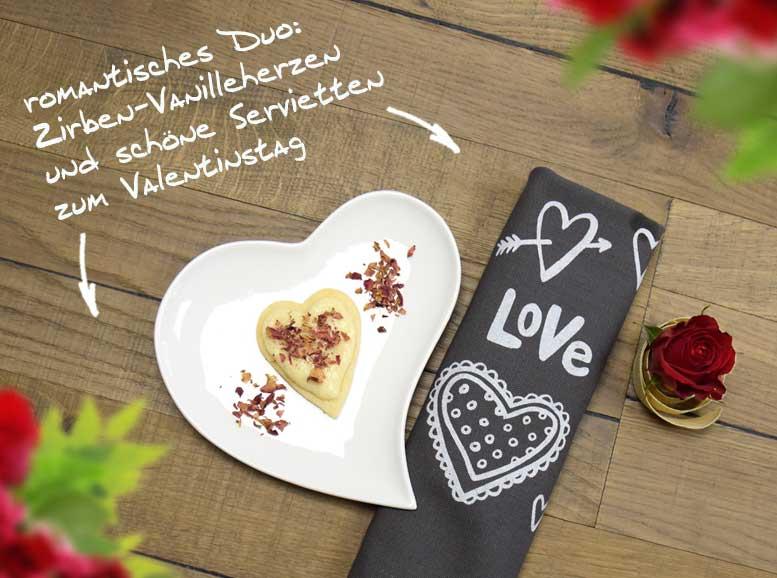 Rezept: Zirben-Vanille-Herzen zum Valentinstag