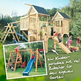 Spielegeräte für Kinder aus Holz