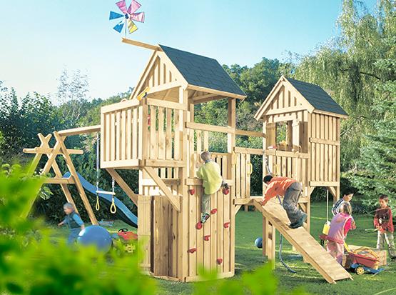 Holz Spieltürme aus Holz für den Garten