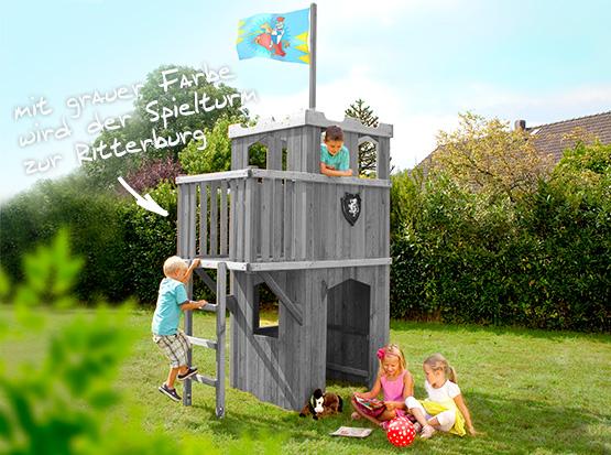 Winnetoo SPielturm von Brügmann Traumgarten mit Farbe