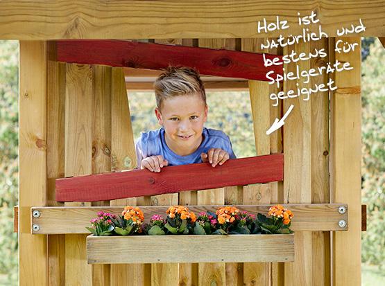 Winnetoo Holz -Spielgeräte mit viel Zubehör