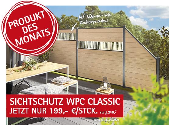 Angebot: Sichtschutz WPC Classic