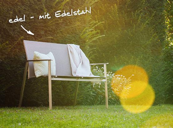 Gartenbank Monaco 2-Sitzer