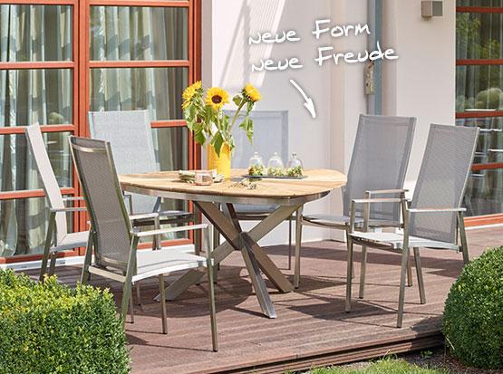 Tisch Lyon mit verstellbarem Hochlehner
