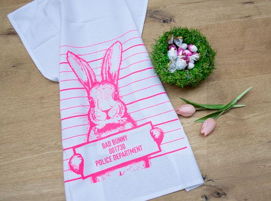Geschirrtuch aus Baumwolle Bad Bunny