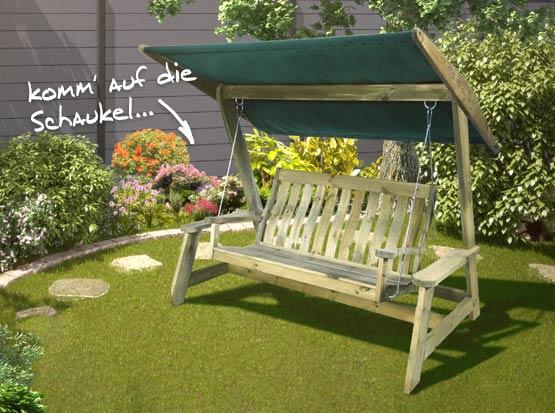 Hollywoodschaukel Swing-Seat Pine Alexander Rose