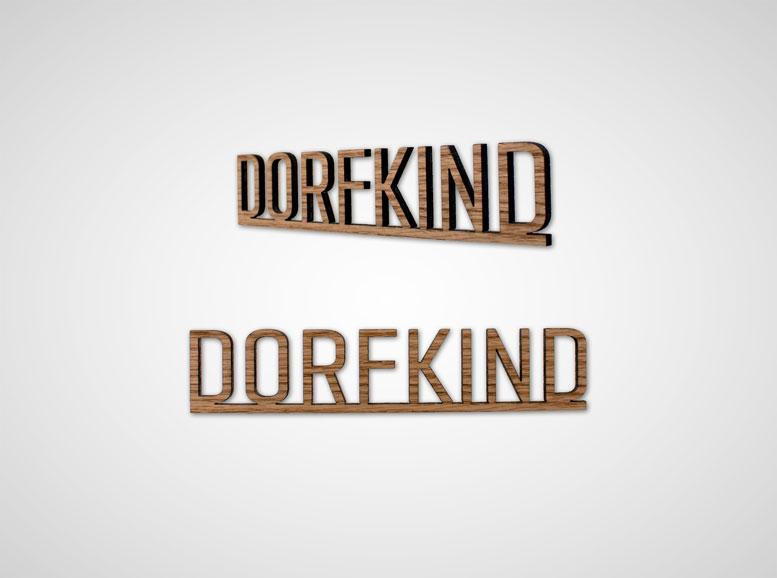 Wohnaccessoires aus Holz: Schriftzug Dorfkind