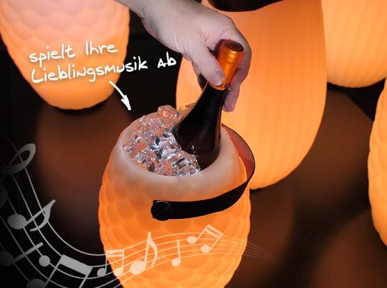 JOOULY, LED-Leuchte mit Lautsprecher