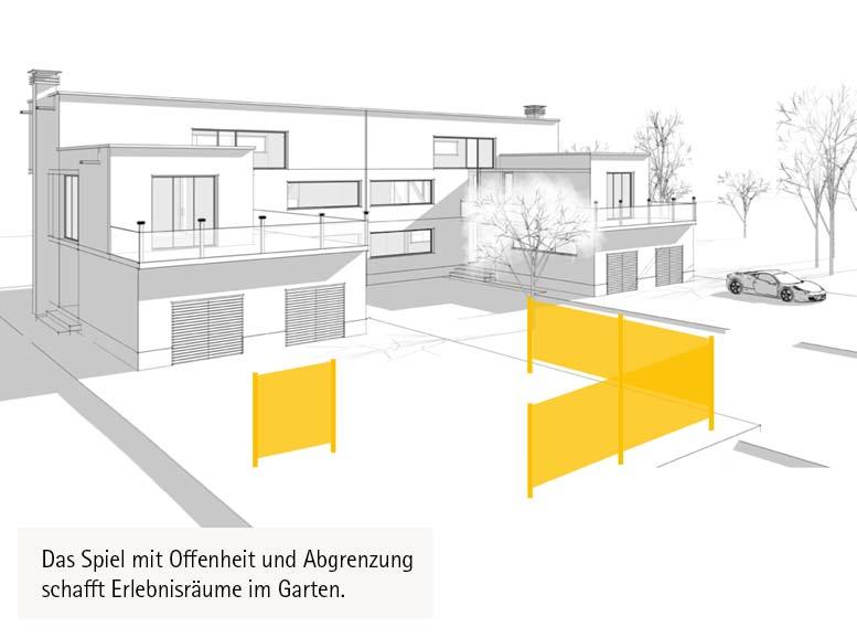 Terrassenplanung mit Sichtschutz-System