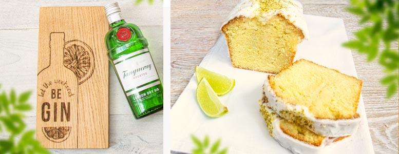 Gin Tonic-Kuchen auf schottischer Eiche serviert