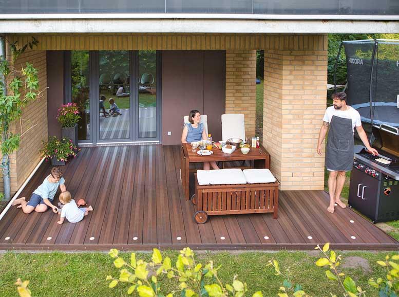 Terrassenplanung mit Megawood WPC Classic