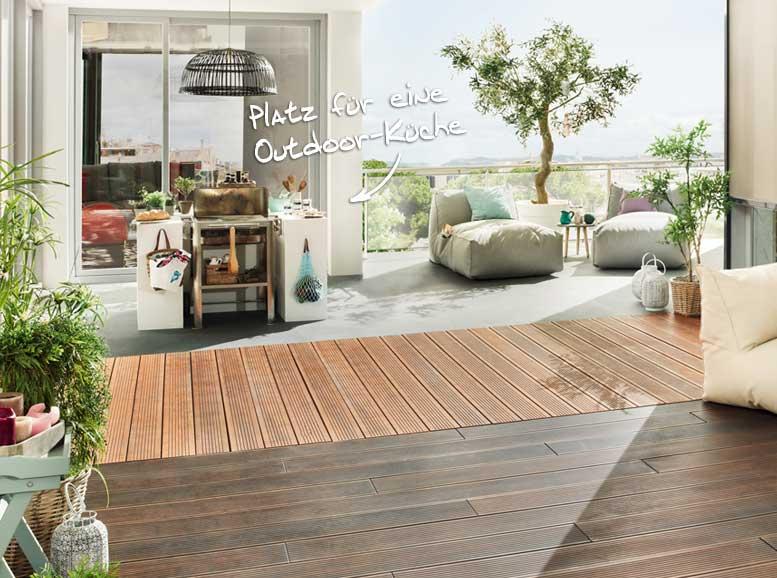 Terrassenplanung mit Bambus-Terrassendielen