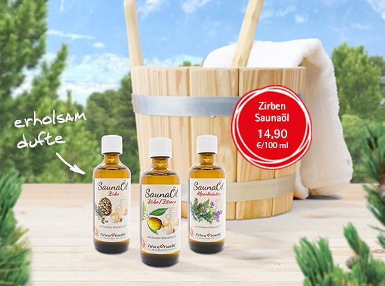 Sauna-Öl mit Zirbe