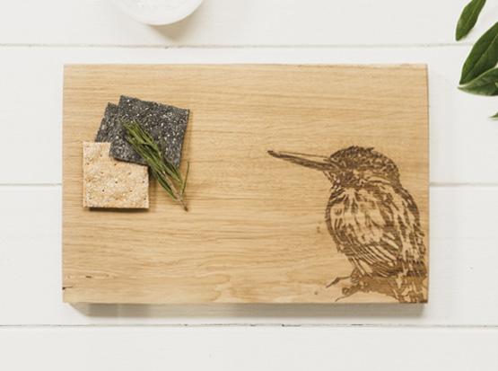 Küchenbrett mit Eisvogel-Motiv, HolzLand Köster in Emmerke