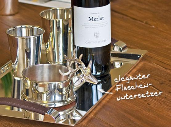 Flaschenuntersetzer Hirsch, HolzLand Köster in Emmerke