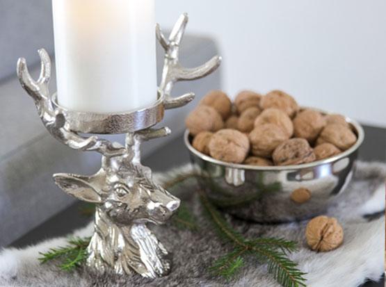 Kerzenleuchter Hirsch, HolzLand Köster in Emmerke