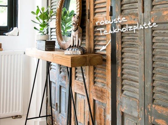 Loft-Konsole mit Teakholz, HolzLand Köster in Emmerke