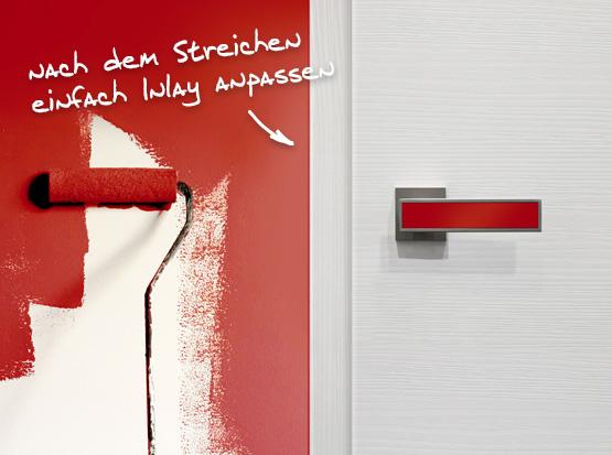 Türdrücker Plug In: Inlay farblich angepasst, HolzLand Köster in Emmerke
