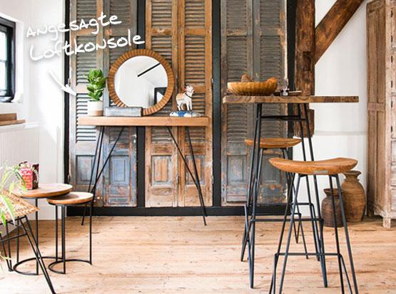 Loft-Konsole im Industrial Style, HolzLand Köster in Emmerke