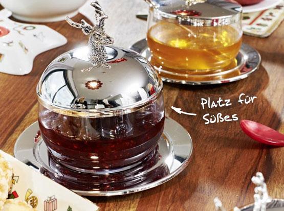 Marmeladenglas mit Hirschkopf, HolzLand Köster in Emmerke