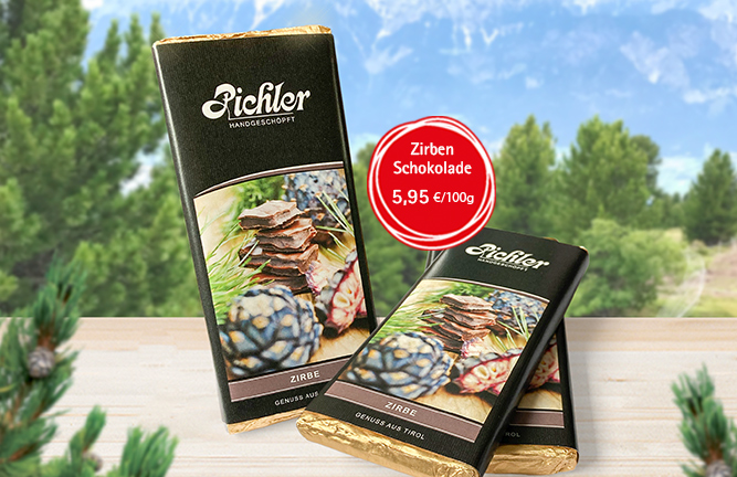 Handgeschöpfte Zirbenschokolade, HolzLand Köster in Emmerke