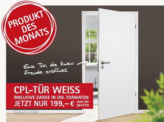 Angebot: CPL-Tür weiß mit Zarge, HolzLand Köster in Emmerke