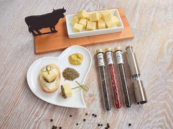 Servierschale Ahornbrettchen mit Kuh, HolzLand Köster in Emmerke
