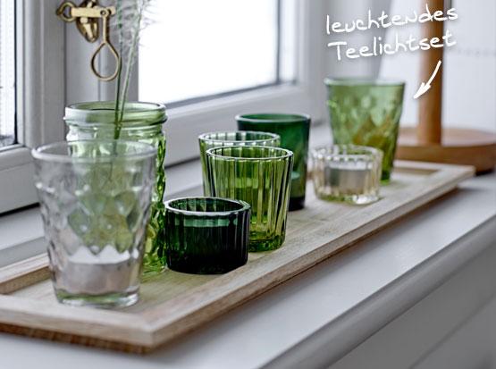Teelichset auf Holztablett, HolzLand Köster in Emmerke