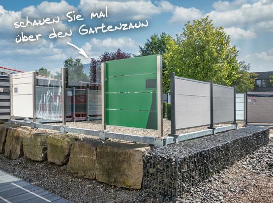 Holzland Outdoor Zaun-Ausstellung